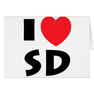 Cartão Eu amo South Dakota