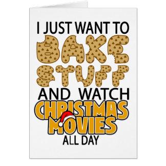 Cartão eu apenas quero cozer o movimento do Natal do