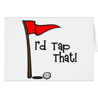 Cartão Eu bateria que - golfe