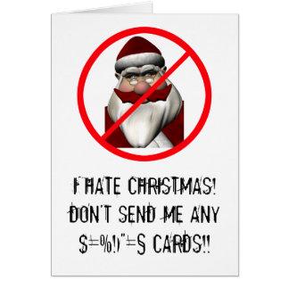 Cartão Eu deio o Natal