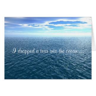 Cartão Eu deixei cair um rasgo no oceano