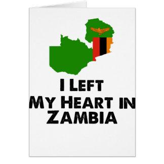 Cartão Eu deixei meu coração na Zâmbia