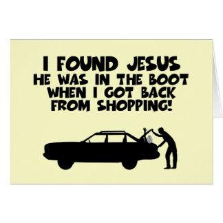 Cartão Eu encontrei a paródia de Jesus