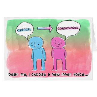 Cartão Eu escolho uma voz interna nova