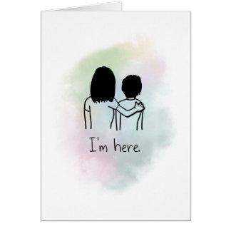 Cartão Eu estou aqui