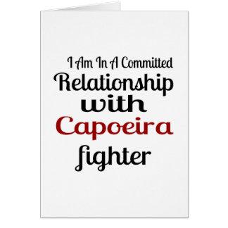 Cartão Eu estou em uma relação cometida com figo de