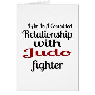 Cartão Eu estou em uma relação cometida com lutador do