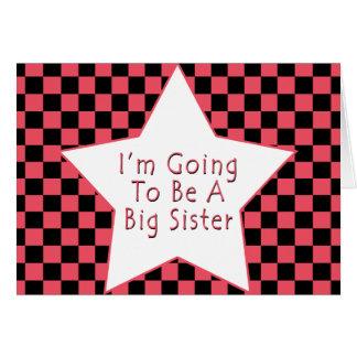 Cartão Eu estou indo ser uma irmã mais velha