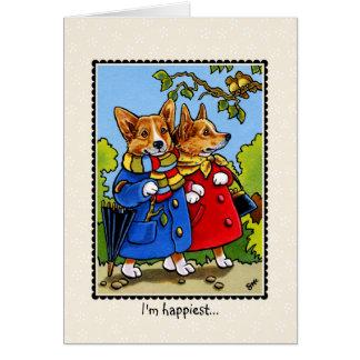 Cartão Eu estou o mais feliz… quando eu sou com você