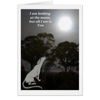 Cartão Eu estou olhando a lua
