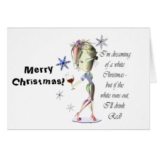 Cartão Eu estou sonhando do White Christmas, presente