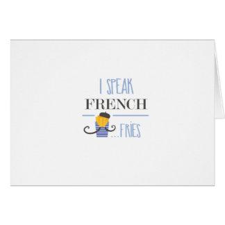 Cartão Eu falo o francês… Fritadas