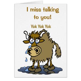 Cartão Eu falto falar-lhe!