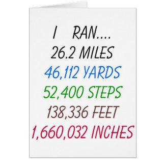 Cartão Eu funcionei 26,2 milhas