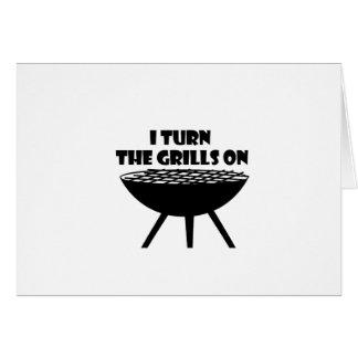 Cartão Eu giro as grades no divertimento do cozinheiro
