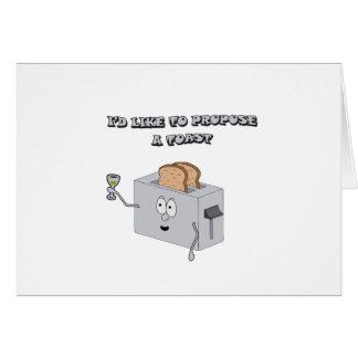 Cartão Eu gostaria de propr um brinde