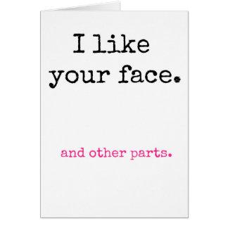 Cartão Eu gosto de sua cara