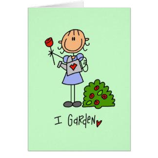 Cartão Eu jardino camiseta e presentes