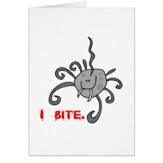 Cartão eu mordo a aranha bonito