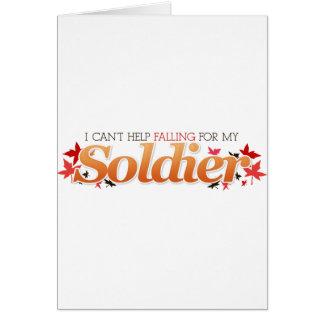 Cartão Eu não posso ajudar a cair para meu soldado