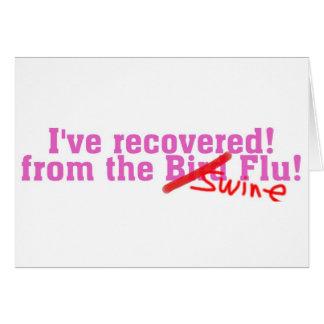 Cartão Eu não recuperei do pássaro nenhuma gripe dos