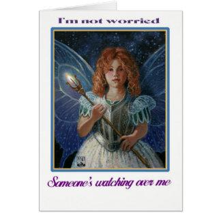 Cartão Eu não sou preocupado, alguém que olha sobre mim