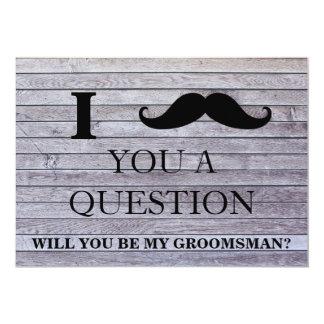 Cartão Eu pergunto-lhe que uma pergunta você será meu