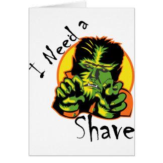 Cartão Eu preciso um Shave