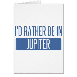 Cartão Eu preferencialmente estaria em Jupiter