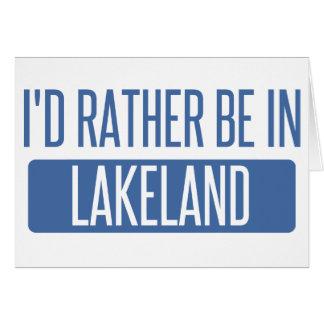 Cartão Eu preferencialmente estaria em Lakeland