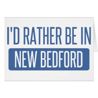 Cartão Eu preferencialmente estaria em New Bedford
