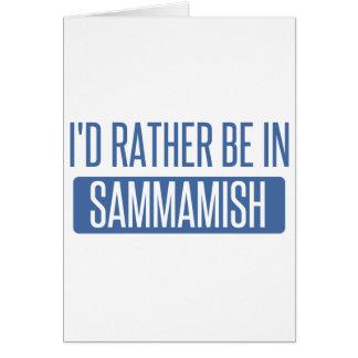 Cartão Eu preferencialmente estaria em Sammamish
