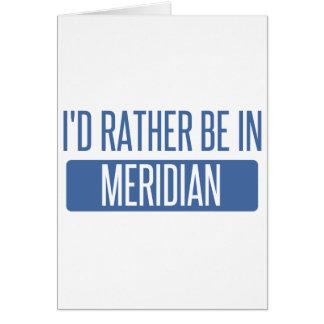 Cartão Eu preferencialmente estaria no MS do meridiano