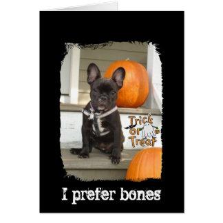 Cartão Eu prefiro os ossos