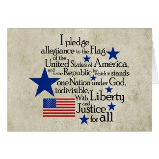 Cartão Eu prometo a fidelidade à bandeira