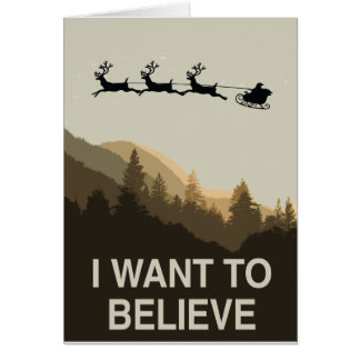 Cartão Eu quero acreditar no Natal