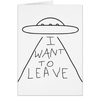 Cartão eu quero sair