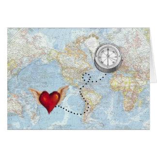 """Cartão """"Eu seguirei relação interurbana do meu coração"""""""