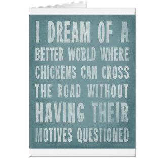 Cartão Eu sonho de um mundo melhor