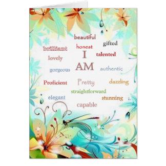 Cartão Eu sou .....