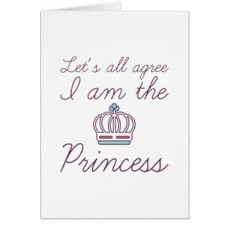 Cartão Eu sou a princesa