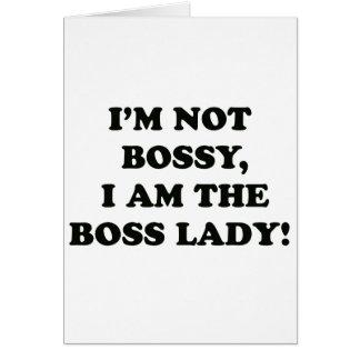 Cartão Eu sou a senhora do chefe