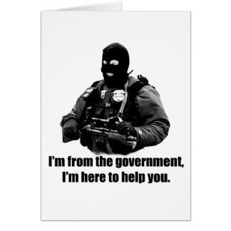 Cartão Eu sou do governo, mim estou aqui ajudá-lo