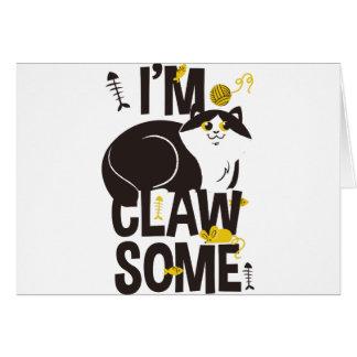 Cartão Eu sou gato