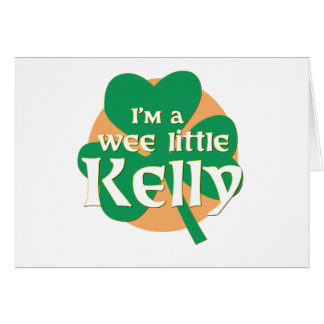 Cartão Eu sou Kelly pequeno pequenino