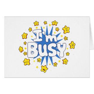 Cartão Eu sou ocupado