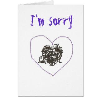 Cartão Eu sou pesaroso