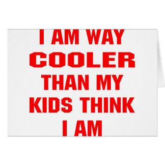 Cartão Eu sou refrigerador da maneira do que meus miúdos