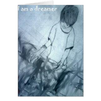 Cartão Eu sou um anime do manga do sonhador