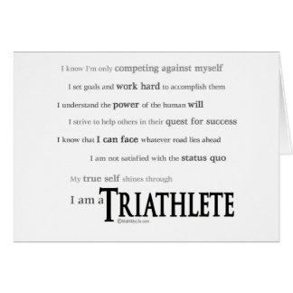 Cartão Eu sou um Triathlete